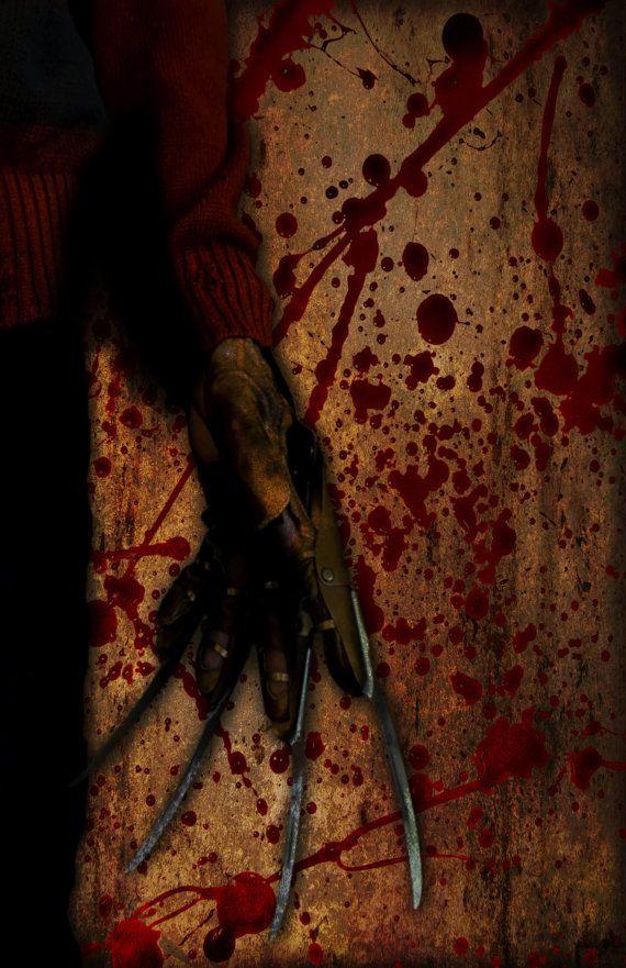 Freddy Krueger Poster   Elm Street   Giclee by DapperDragonArts