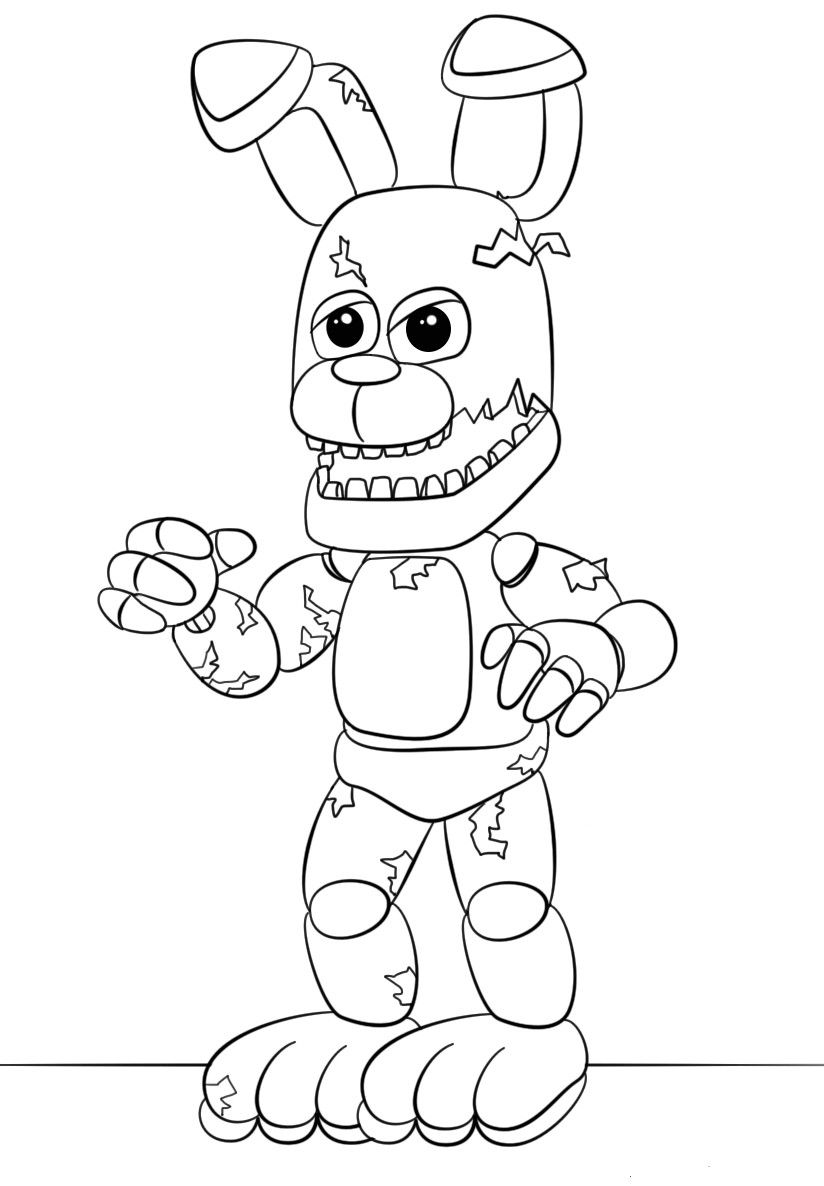 Five Nights At Freddys Coloring Pages Fnaf Coloring Pages Coloring Books Spring Coloring Pages