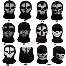 Call Of Duty 10 Cod Balaclava Ghost Skull Face Mask Skateboard