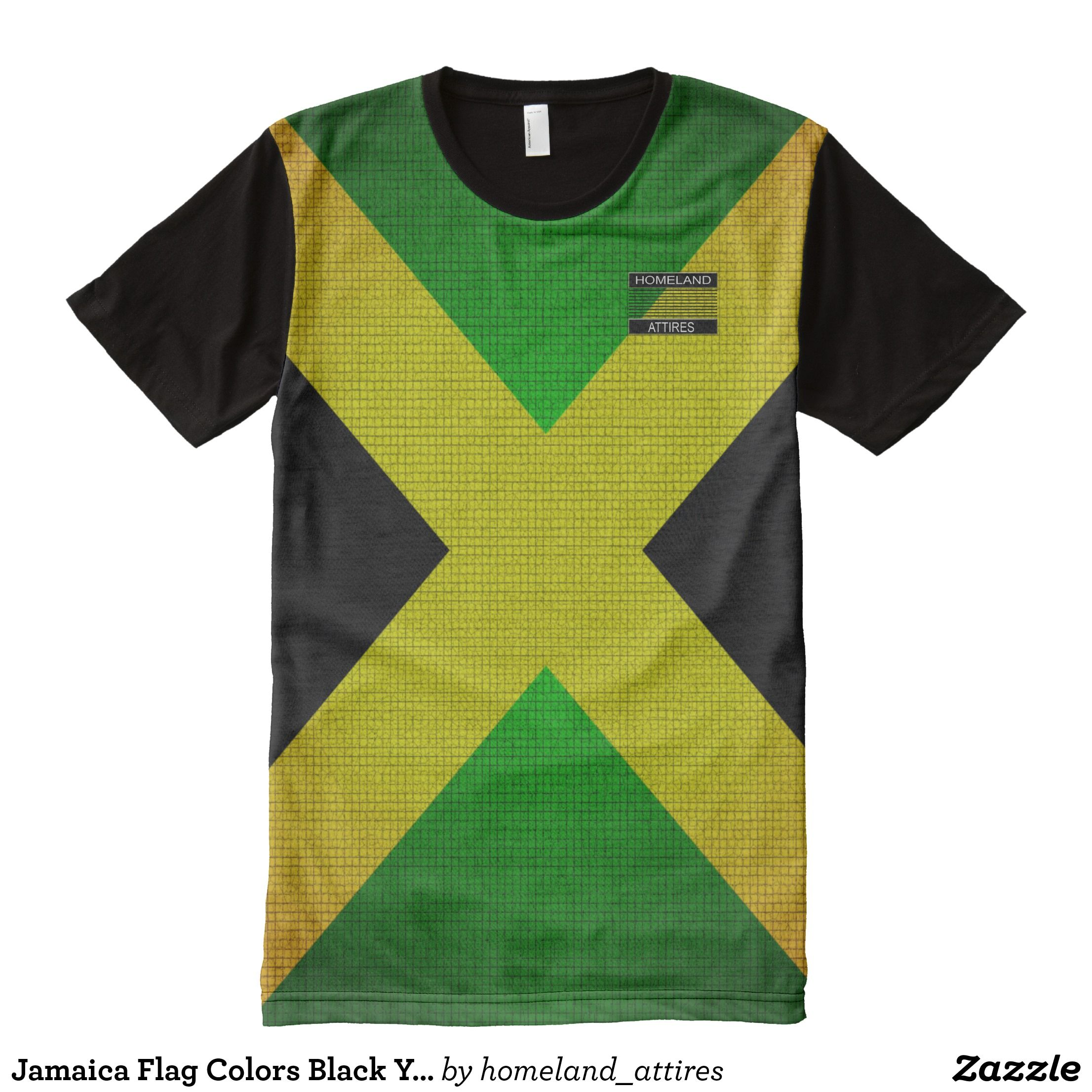 Jamaica Flag Colors Black Yellow Green T Shirt Zazzle Com Flag Colors Green Tshirt Jamaica Flag