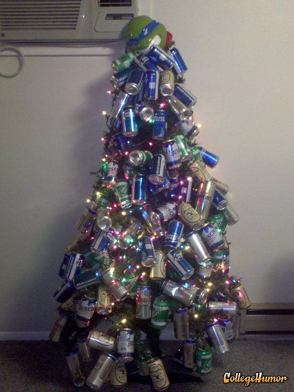 White Trash Christmas Party Ideas Part - 34: Beer Can Christmas Tree, Iu0027m Thinking For The Man Cave? Bahahahahahahahahah
