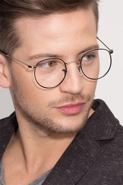 Daydream Round Black Silver Frame Glasses Online Em 2020