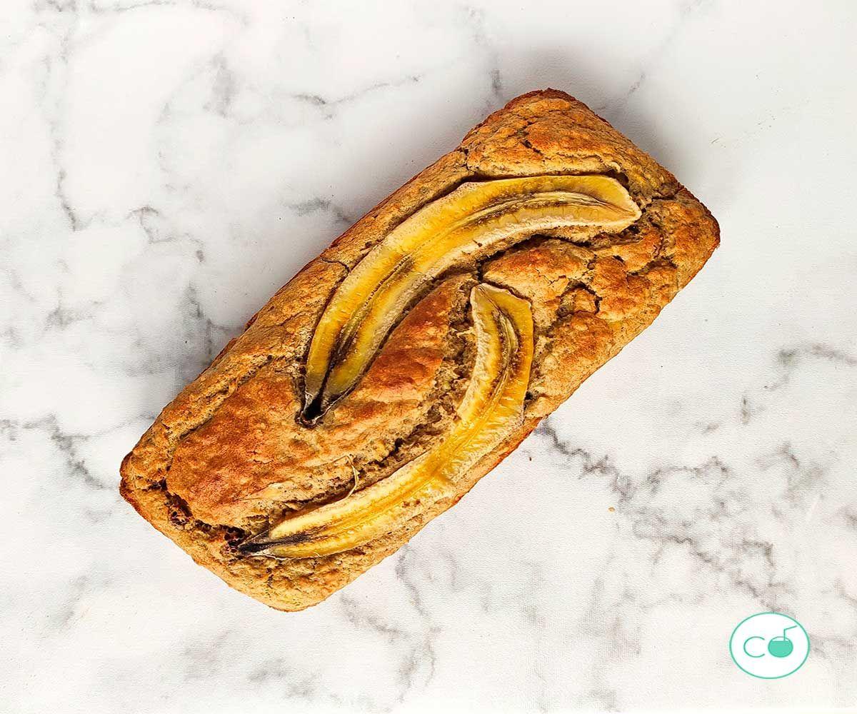banana bread saludable receta