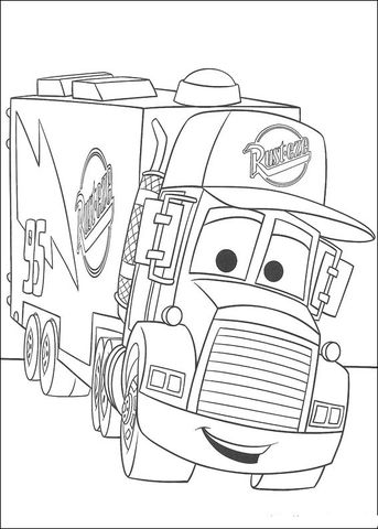 Mack coloring page from Disney Cars category. Select from 25634 ...