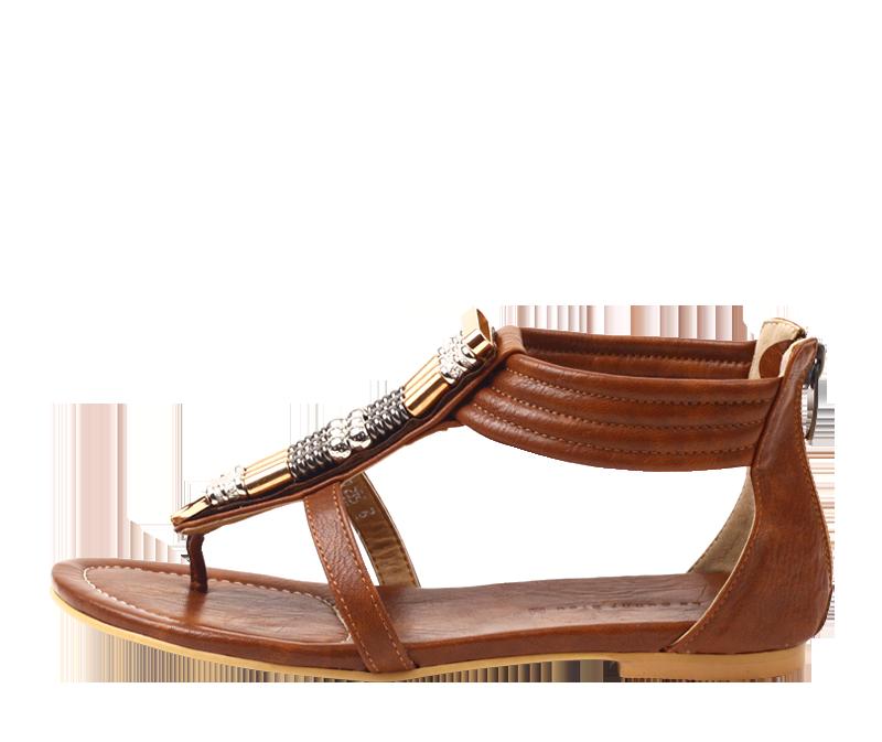 zip back sandle
