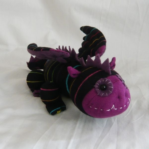 So original, I just love this! Sock Dragon - by starcross crafts on Folksy