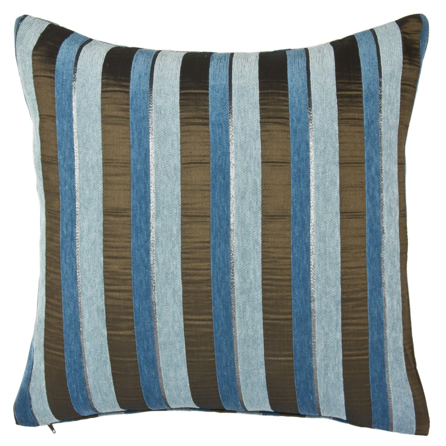 Brown and teal throw pillows - Buy Zoe Stripe Filled Cushion Teal Cushions The Range 6 99