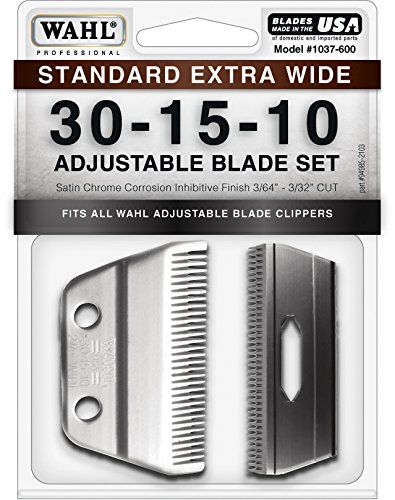 Wahl Professional Animal Standard Adjustable Replacement Blade Set, 30-15-10 Extra Wide 1037-600 -- Click image for more details.