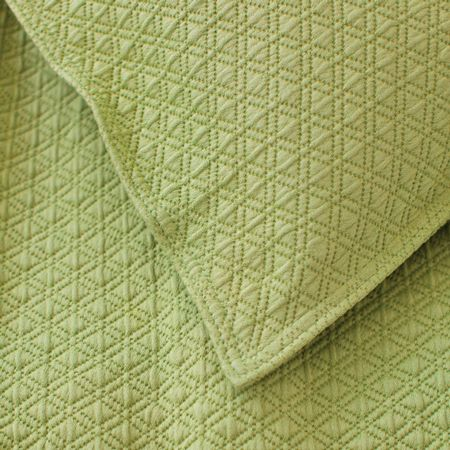 Green! Thos. Baker Diamond Matelasse Coverlet In Key