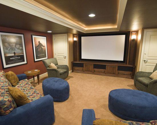 lighting ideas ceiling basement media room. Media Room Basement Design, Pictures, Remodel, Decor And Ideas Lighting Ceiling H