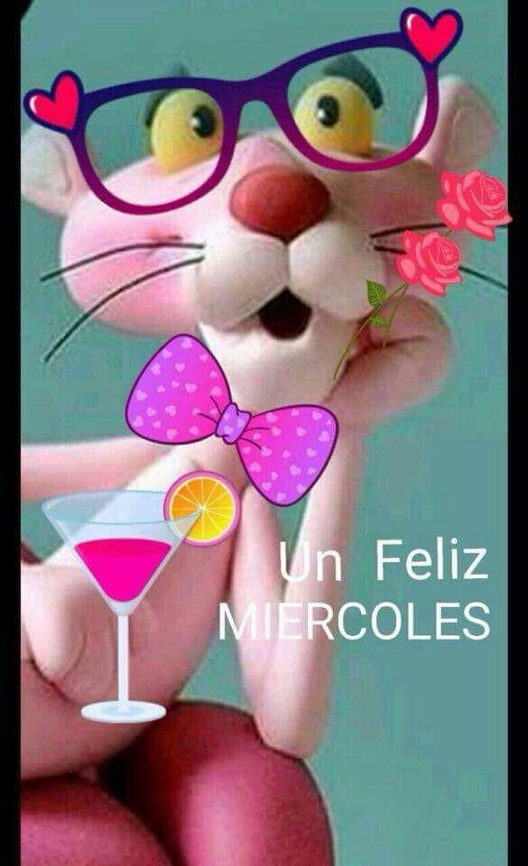 Feliz Miercoles Pantera Rosa Saludos De Buenos Dias Buenos Dias
