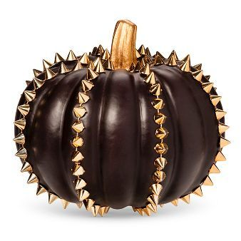 Halloween Studded Pumpkin - Black (TARGET) - is it just me or this a total Madison Montgomery pumpkin? - AHS COVEN