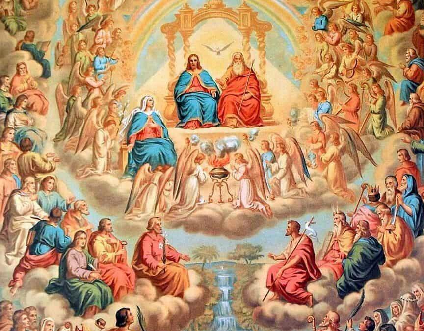 Solemnidad De Todos Los Santos 1 De Noviembre La Iglesia Esta De Fiesta Dia De Precepto Arte Católico Cordero De Dios Dia De Todos Los Santos