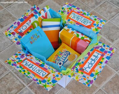 Care Package #21: Happy Birthday -- #army #deployment Love the colors! - MilitaryAvenue.com