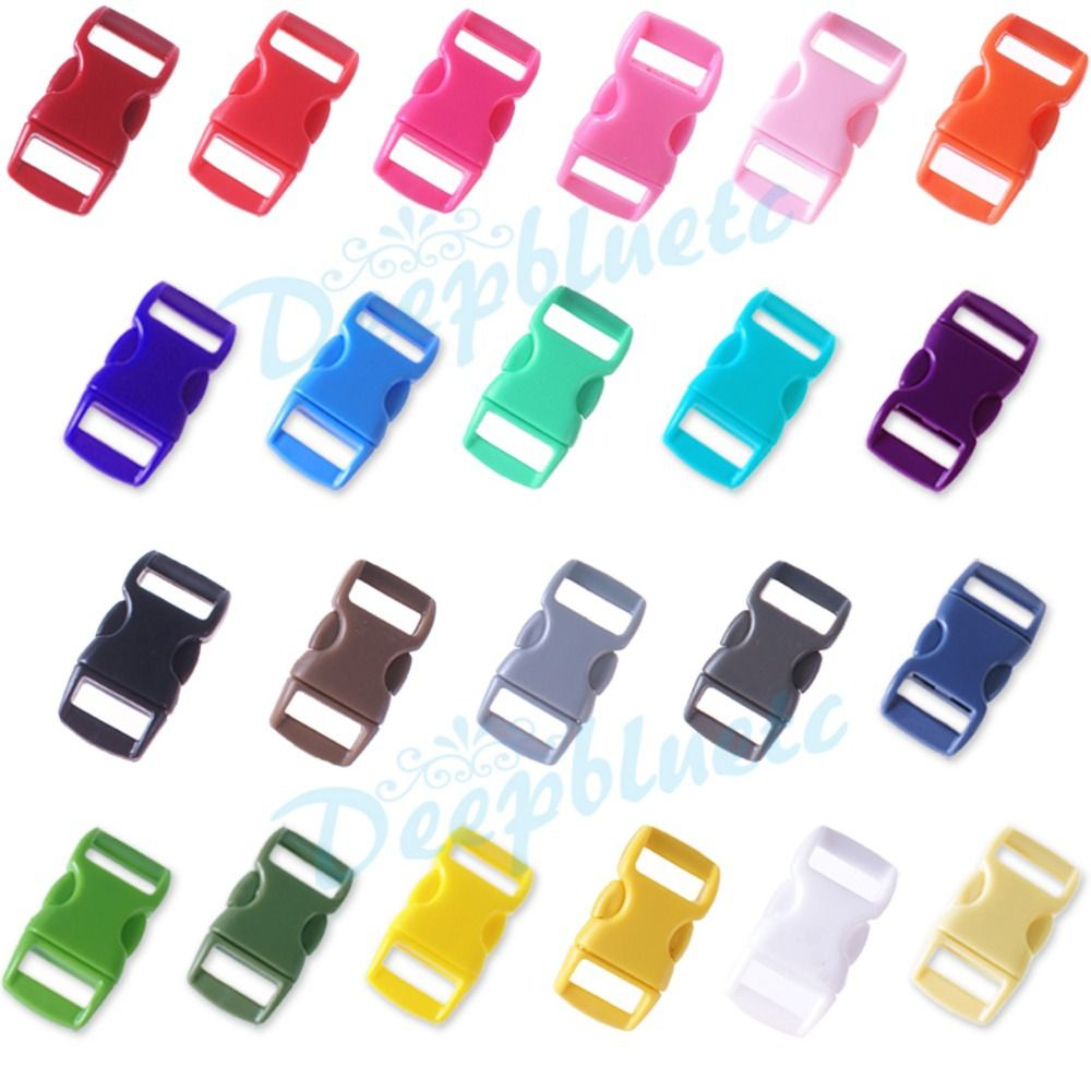 "Lot of 1000 Black 3//8/"" Curved Quick Release Buckle Paracord Survival Bracelets"