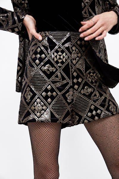 grand assortiment mieux aimé nouvelles photos Image 2 de SHORT À PAILLETTES de Zara | To buy in 2019 ...