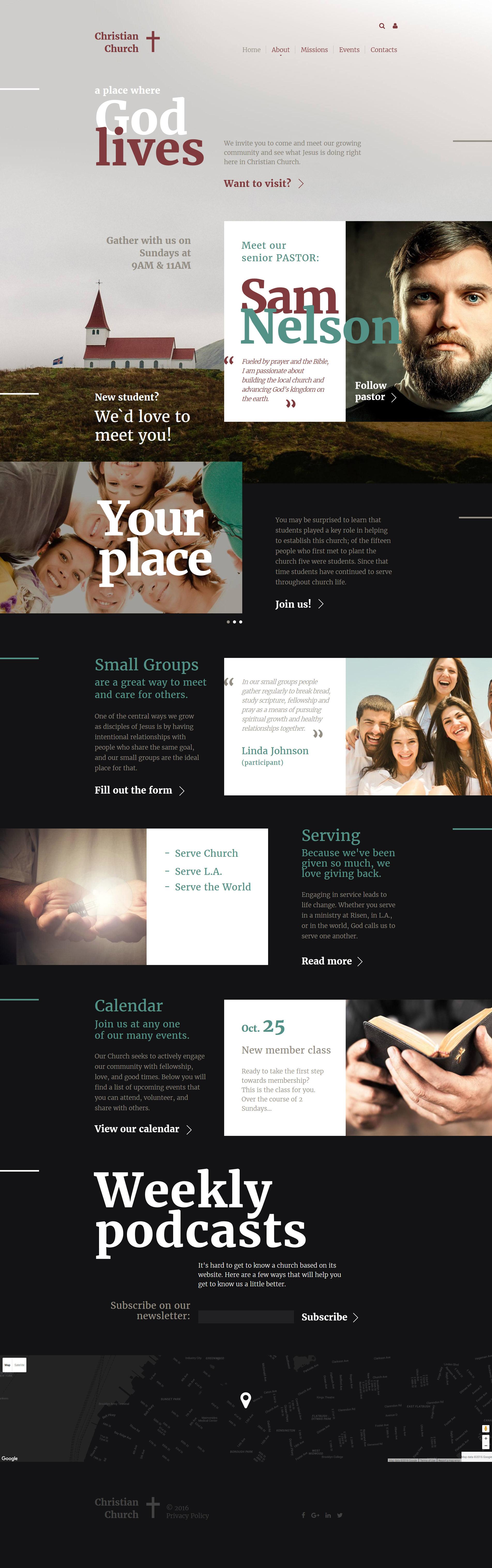 Christian Responsive Website Church Website Design Website Template Design Website Template