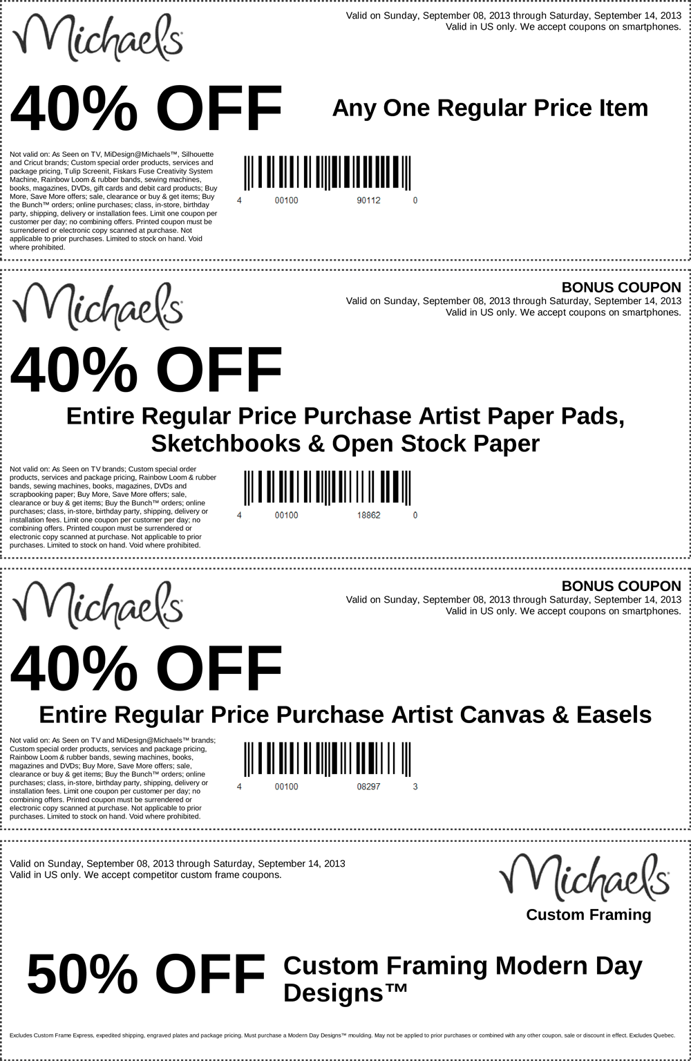 michaels coupon michaels promo code from the coupons app off a single item and more at michaels october - Michaels Coupons Framing