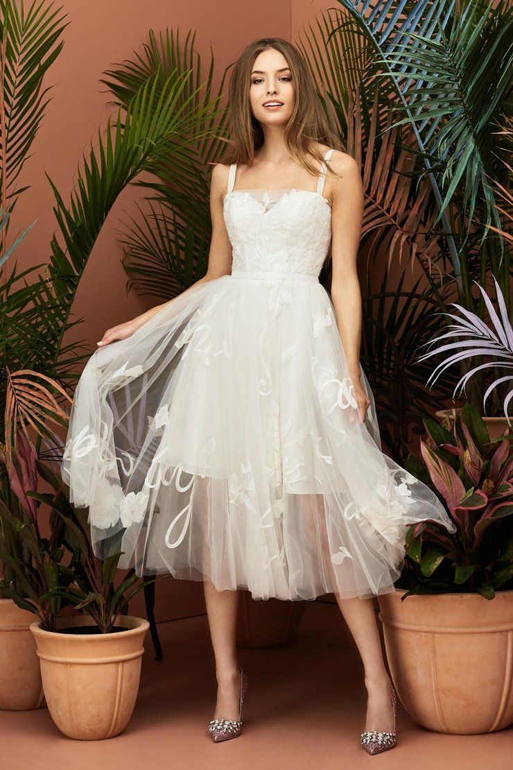 Wtoo By Watters 11107 Juliet Embroidered Tea Length A Line Wedding