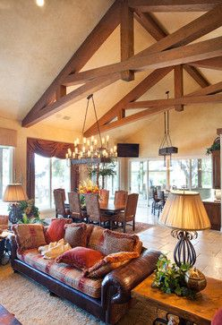 Heavy Timber Trusses Timber Framing Beams Living Room Rustic