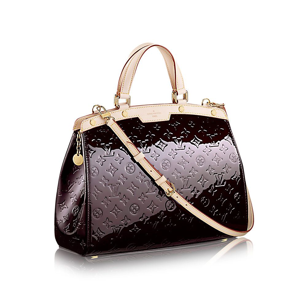 COM - Louis Vuitton Brea GM (LG) MONOGRAM VERNIS Handbags