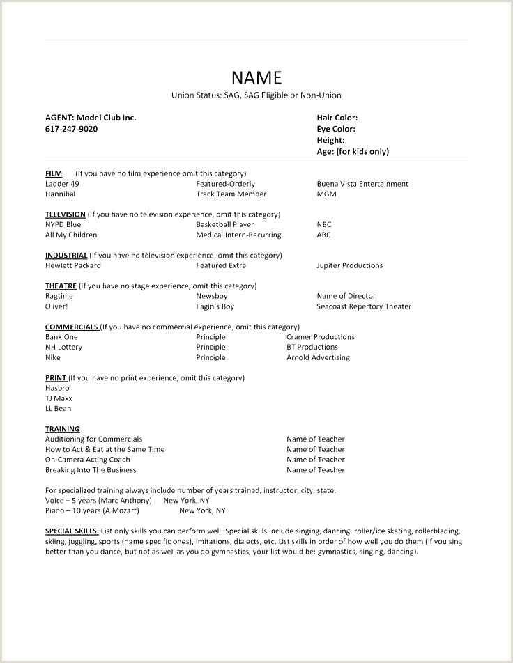 Child actors resume acting resume template acting