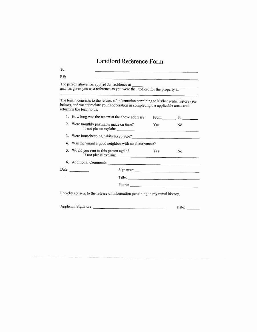 32++ Landlord reference letter sample inspirations
