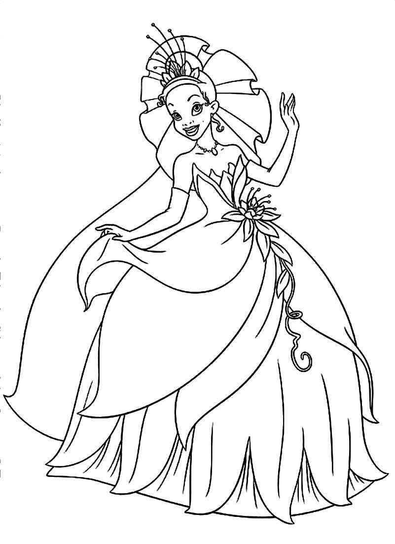 Disney Princess Tiana Coloring Page Through The Thousand Images On Line Concerning Disney Princess Tiana Coloring Page Disney Kleurplaten Disney Kleurplaten