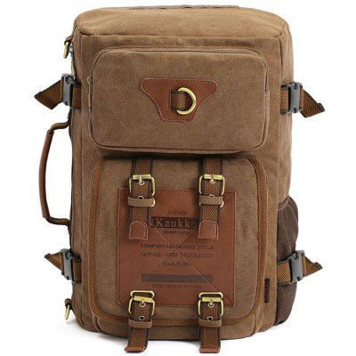 Just US$31.36 + , buy KAUKKO FH05 22L Men Multi-function Canvas Backpack online shopping at GearBest.com.