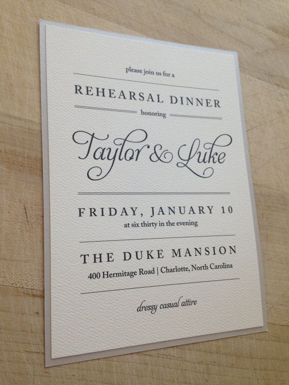like the simplicity wording of this rehearsal dinner invite chamge