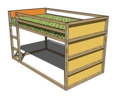 Diy Plans For An Ikea Kura Knock Off Bed Reversible Mattress Can