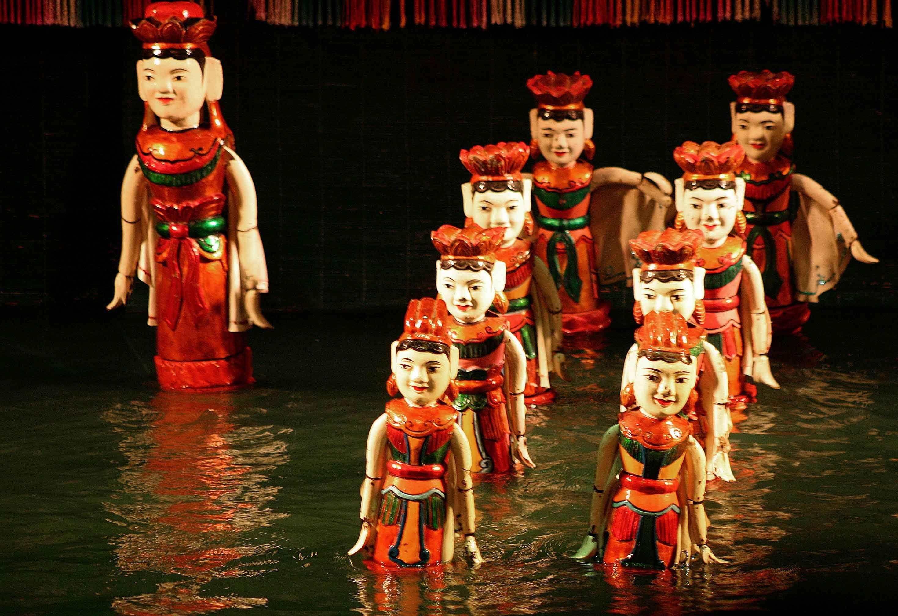 Kết quả hình ảnh cho water puppetry in vietnam