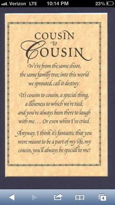 Cousin Sticker Sayings | Cousins Quote Canvas Going Some Sort Thing Like