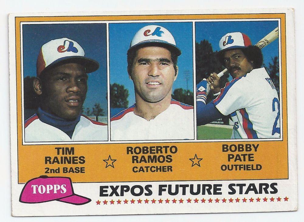 1981 tim raines rookie baseball card mlb hall of famer