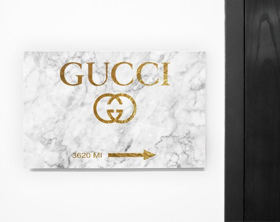 8d2538371bd5 Gucci Wall Art Marble Gold Print. Gucci Sign Poster. Gucci Print. Gucci  Logo Gold Art. Fashion wall