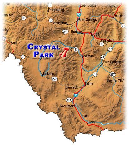 Crystal Park Montana Map About Dillon Montana About Beaverhead