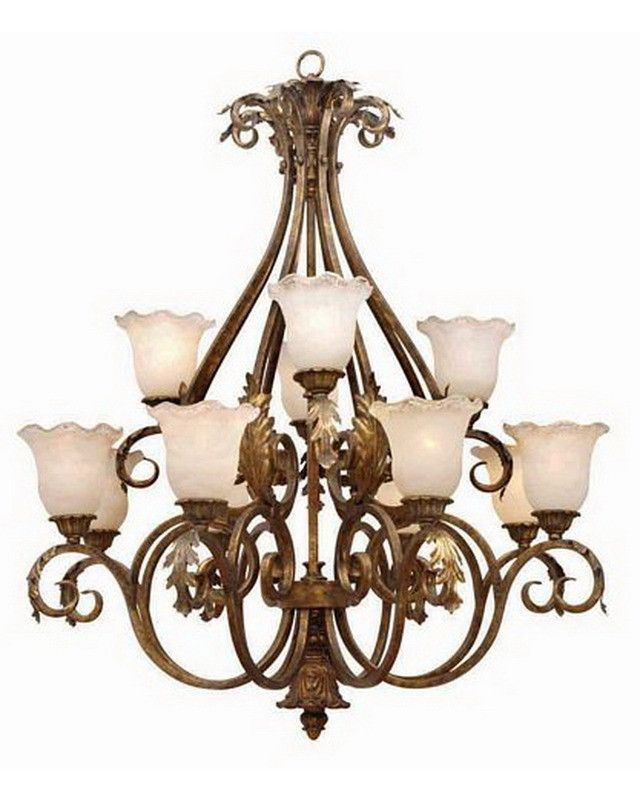 International Lighting LI2422 MG Twelve Light Chandelier In Moroccan Gold  Finish | Quality Discount Lighting |