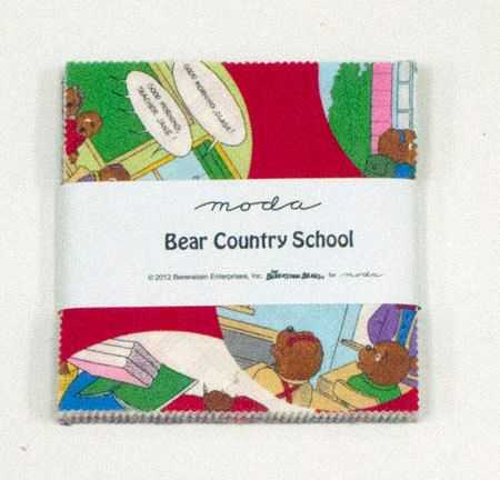 Bear Country School Charm Pack The Berenstain by SewFabricDeals, $8.00 Free Shipping