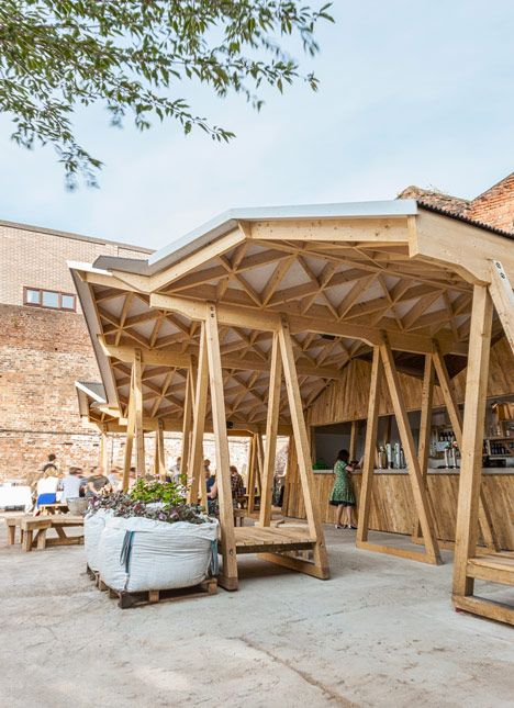 Constellations bar by h miller bros is a courtyard canopy in liverpool constellation canopy - Bar canopy designs ...