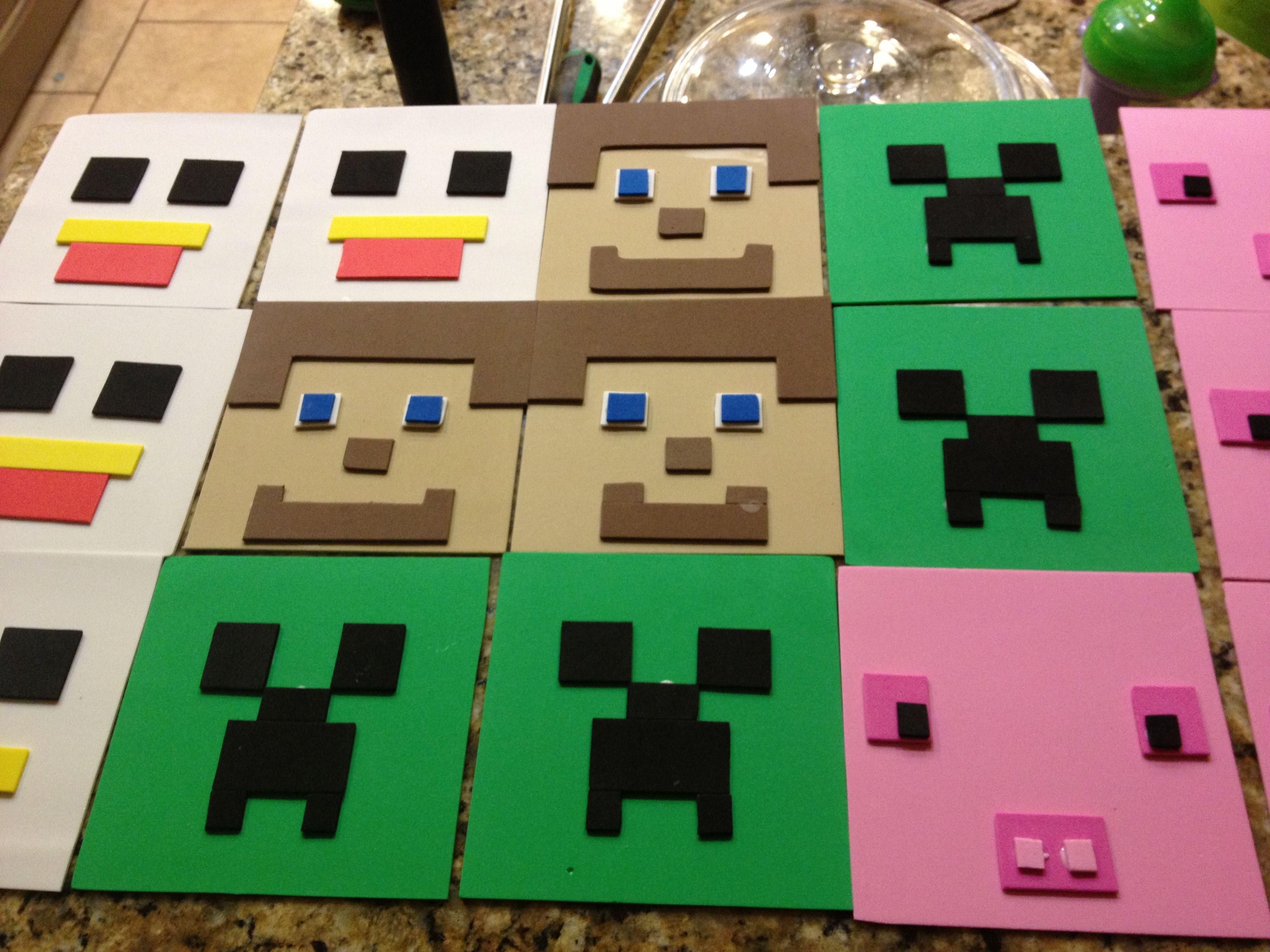 Minecraft birthday banner in the making minecraft