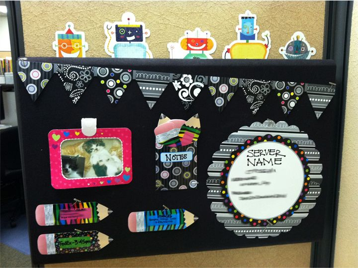 Robot Classroom Decor : Bulletin board using bw collection and robots from ctp