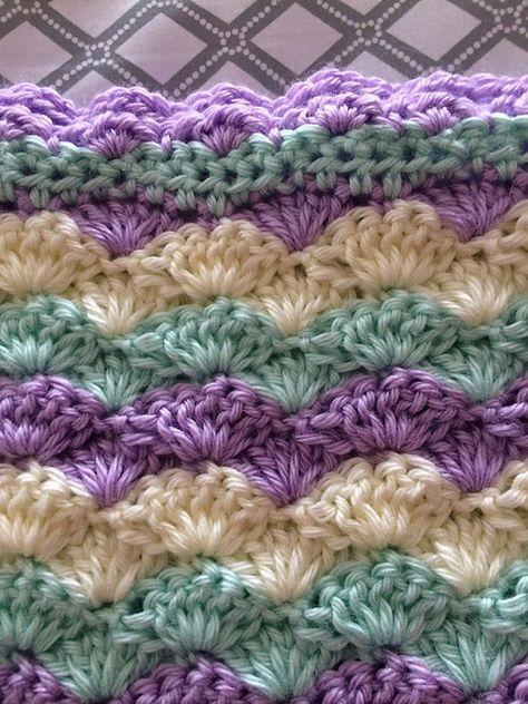 Shells Stitch Baby Blanket Free Crochet Pattern Crochet