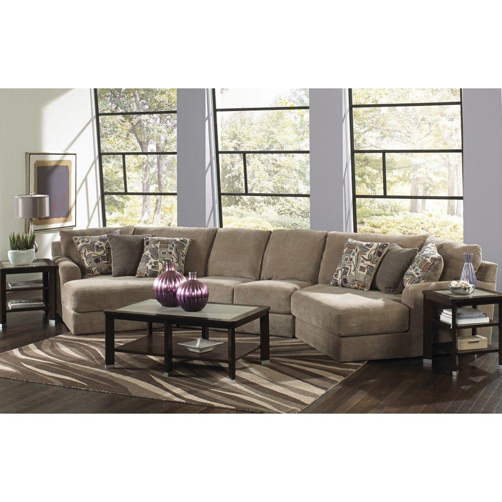 Jackson Malibu Small Chaise Sectional Sofa Taupe 3239