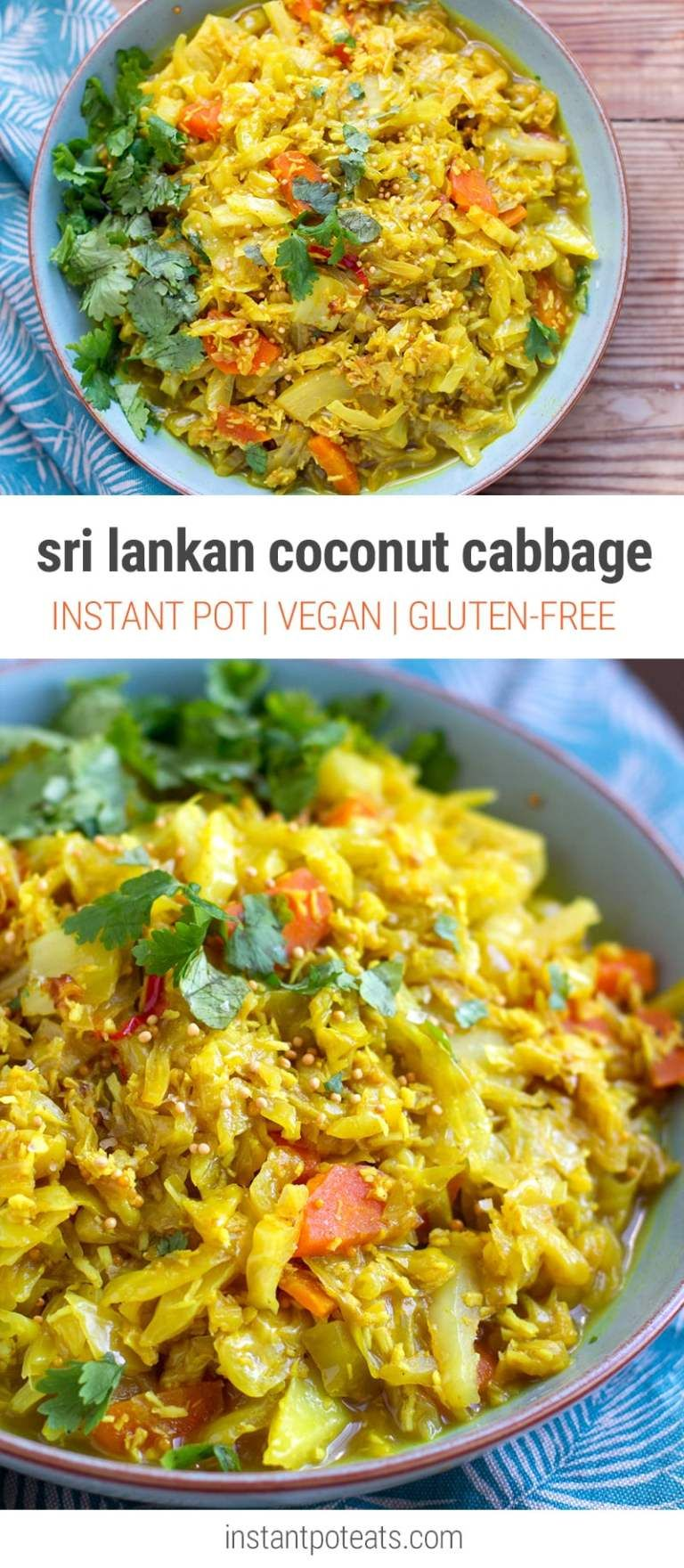 Sri Lankan Coconut Cabbage Instant Pot