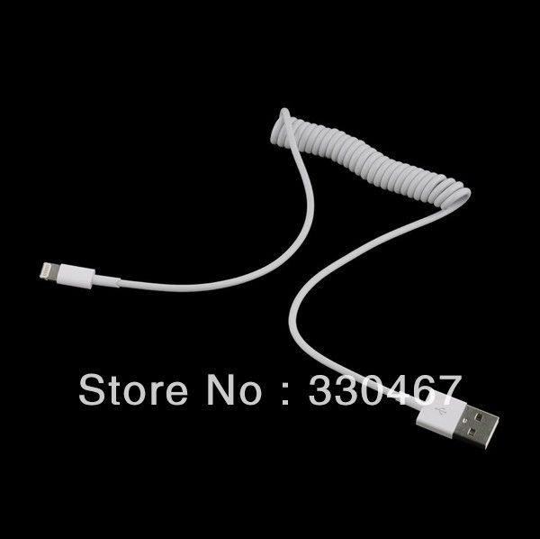 Aliexpress.com : Buy 20Pcs/Lot  Free Shipping  New 8pin usb Retractable Spring cable for iphone 5 5th from Reliable FOR IPHONE5 suppliers on Anjue Green Technology Co., Ltd $29.78