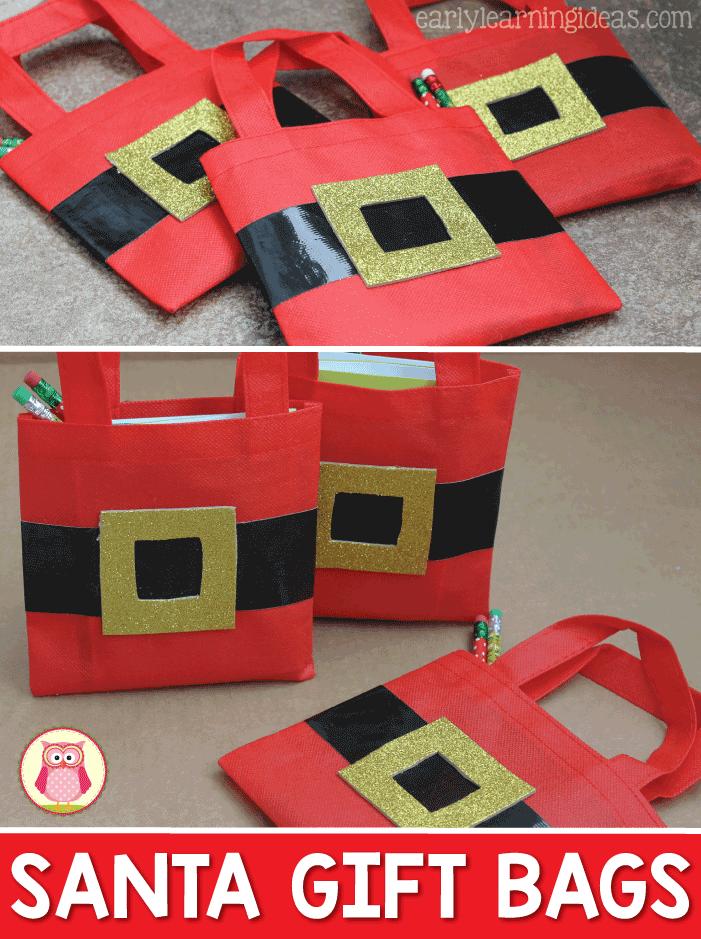 Christmas Gift Bags for Kids: Santa Bags | Holiday: Christmas ...