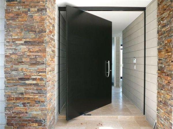 Porte Dentrée Pivotante Et élégante En Idées Metallique - Porte placard coulissante jumelé avec porte d entrée appartement blindée