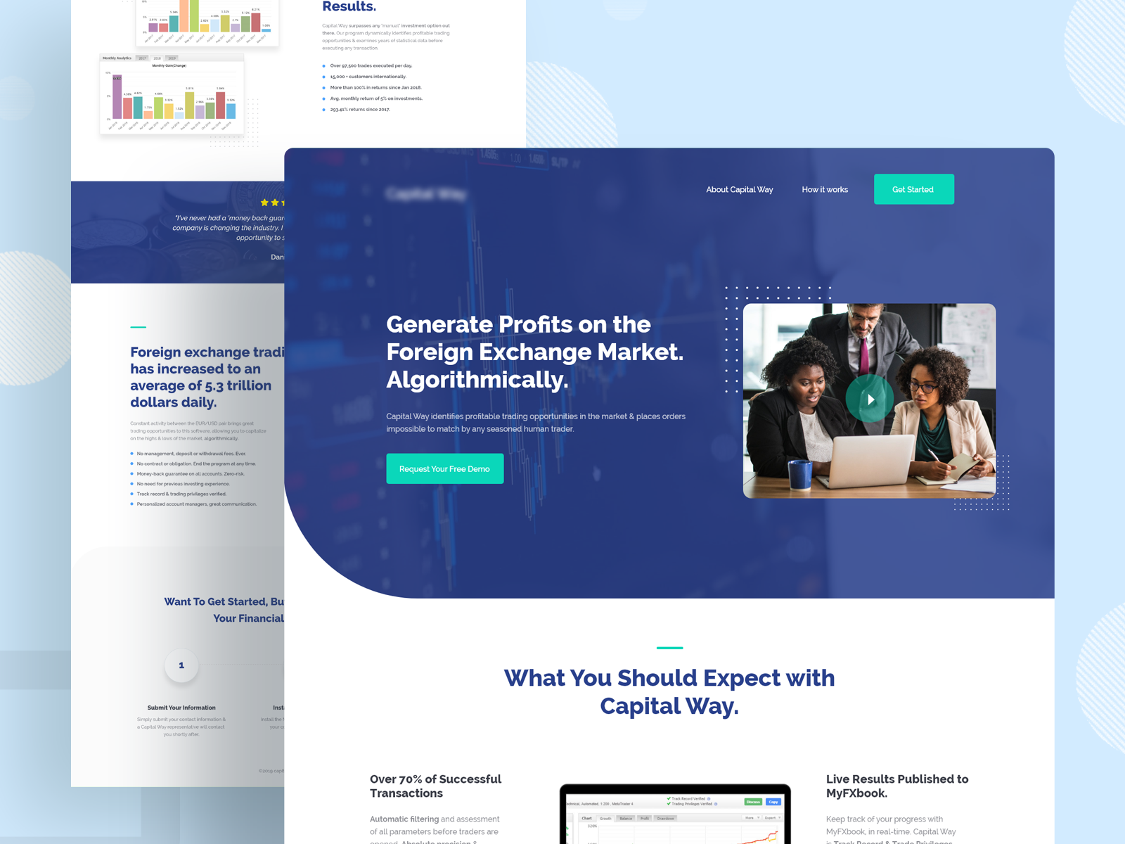 Financial Technology Landing Page Landing Page Financial Website Web Design