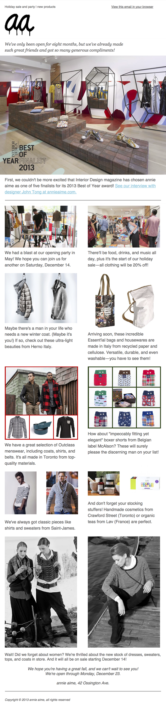 annie-aime-toronto-e-newsletter-winter-2013-preview
