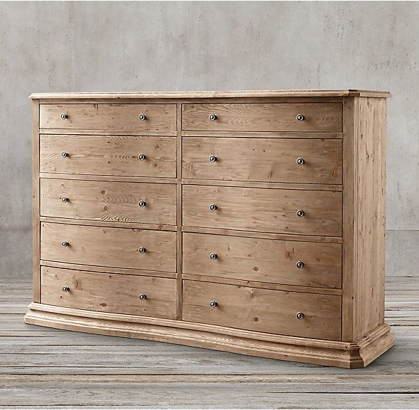 Best Serpentine Salvaged 10 Drawer Large Dresser Large 400 x 300